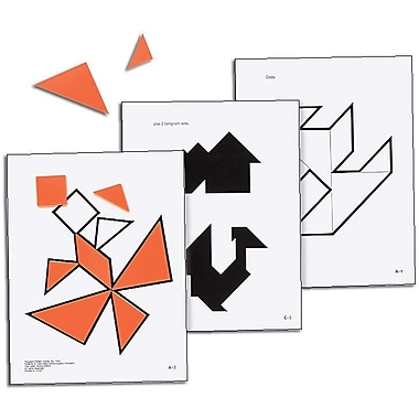 Ideal School Supply Tangram Pattern Cards Manipulative