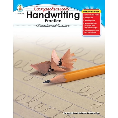 Carson-Dellosa Comprehensive Handwriting Practice: Traditional Cursive Resource Book