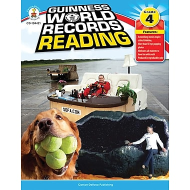 Carson-Dellosa Guinness World Records® Reading Resource Book, Grade 4