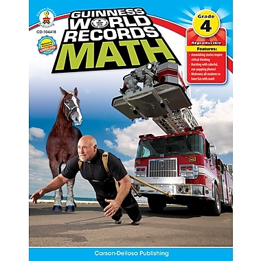 Carson-Dellosa Guinness World Records® Math Resource Book, Grade 4