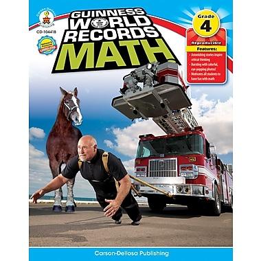 Carson-Dellosa Guinness World Records® Math Resource Book, Grade 4