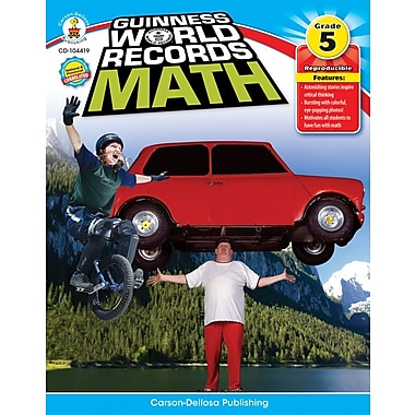 Carson-Dellosa Guinness World Records® Math Resource Book, Grade 5