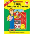 Carson-Dellosa Farm Puzzles & Games Workbook