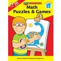 Carson-Dellosa Math Puzzles & Games Workbook, Grade 1