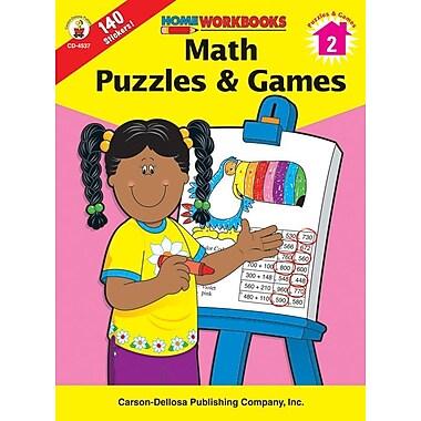 Carson-Dellosa Math Puzzles & Games Workbook, Grade 2