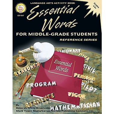Mark Twain Essential Words for Middle-Grade Students Resource Book, Grades 4 - 8