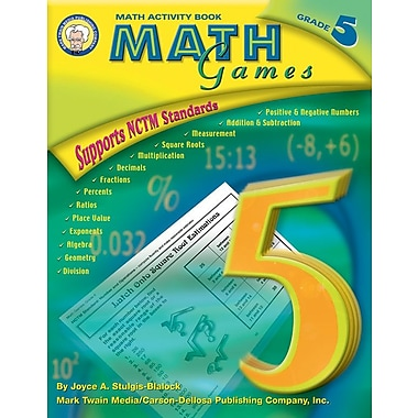 Mark Twain Math Games Resource Book, Grade 5