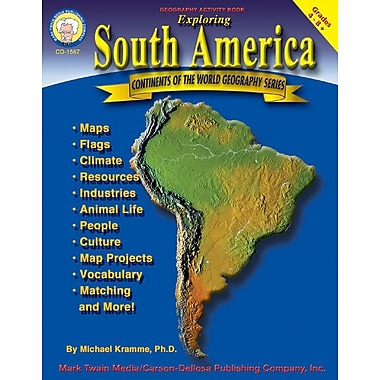 Mark Twain Exploring South America Resource Book, Grades 4 - 8+