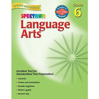 Spectrum Language Arts Workbook, Grade 6
