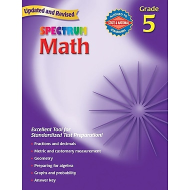 Spectrum Math Workbook, Grade 5