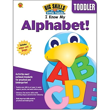 Brighter Child I Know My Alphabet! Workbook, 80 Pages