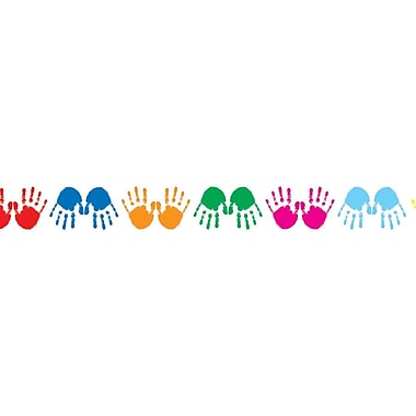 Carson-Dellosa Colorful Handprints Borders