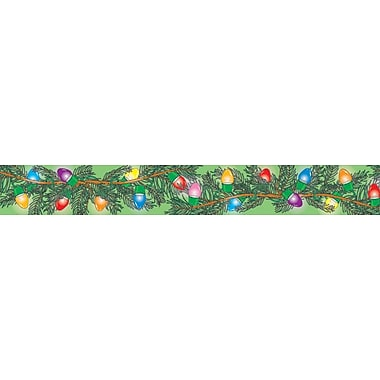 Carson-Dellosa Publishing 1465 3' x 3in. Straight Christmas Lights & Holidays Borders, Multicolor