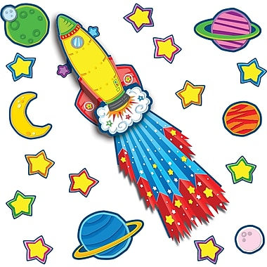 Carson-Dellosa Rocket Bulletin Board Set