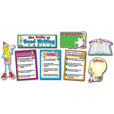 Carson-Dellosa Traits of Good Writing Bulletin Board Set, Grades K - 8+