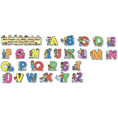 Carson-Dellosa Alphabet Kids Bulletin Board Set