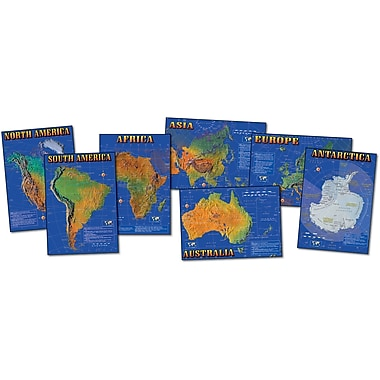 Mark Twain Seven Continents of the World Bulletin Board Set