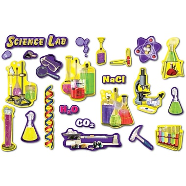 Mark Twain Science Lab Tools Punch-Outs Bulletin Board Set