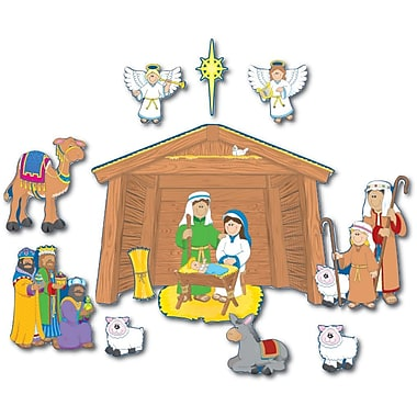 Carson-Dellosa Nativity Bulletin Board Set, Holiday, All Grades