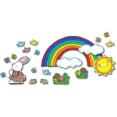 D.J. Inkers Sun 'n Rainbow Bulletin Board Set