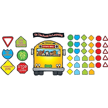 D.J. Inkers School Bus Bulletin Board Set