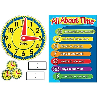 Carson-Dellosa Judy® Clock Bulletin Board Set