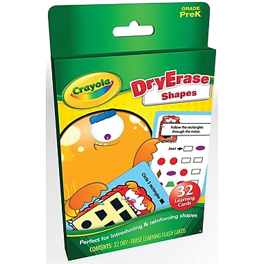 Crayola Shapes Flash Cards