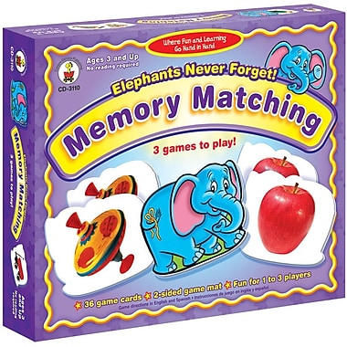 Carson-Dellosa Elephants Never Forget: Memory Matching Board Game