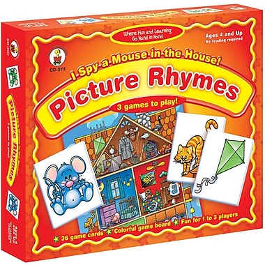 Carson-Dellosa I Spy a Mouse in the House! Picture Rhymes Board Game