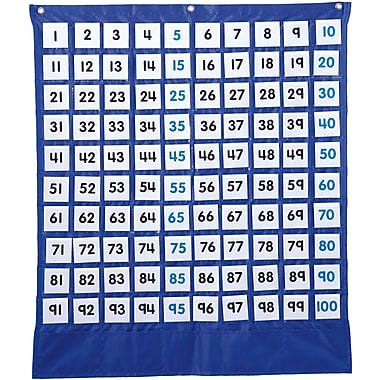 Carson-Dellosa Deluxe Hundred Board Pocket Chart
