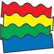 """Carson-Dellosa Publishing 1218 3' x 2.25"""" Scalloped Plain Borders, Multicolor"""