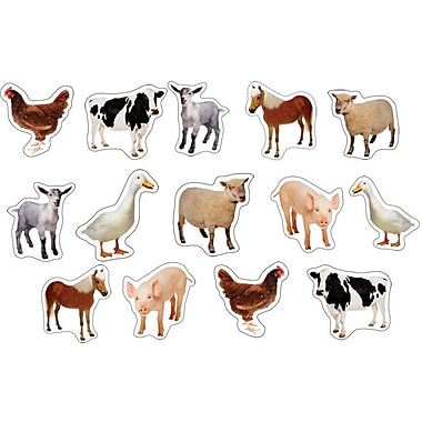 Carson-Dellosa Farm Animals: Photographic Shape Stickers