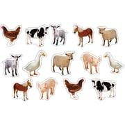 Carson-Dellosa Farm Animals: Photographic Shape Stickers