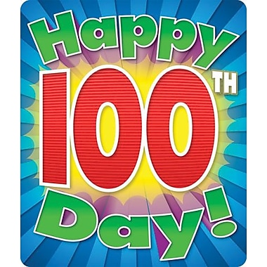 Carson-Dellosa Happy 100th Day Motivational Stickers