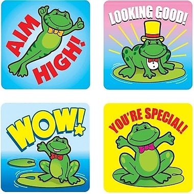 Carson-Dellosa Frogs Motivational Stickers