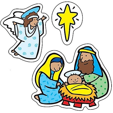 Carson-Dellosa The Nativity Shape Stickers