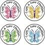Carson-Dellosa Butterflies Dazzle™ Stickers, 120 Stickers per