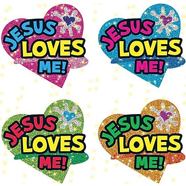 Carson-Dellosa Jesus Loves Me Dazzle™ Stickers