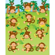 Carson-Dellosa Monkeys Shape Stickers
