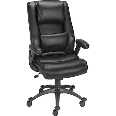 Staples Elworth Bonded Leather Task Chair, Espresso
