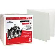 "Brawny Industrial® Medium Duty All Purpose Airlaid 1/4 Fold Wipers , White, 13"" x 13"", 800/Pk"