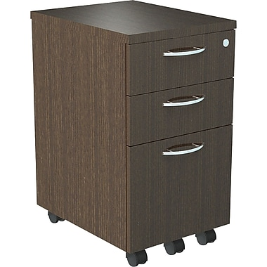 Alera® SedinaAG 20in.D 3 Drawer Mobile Box/Box/File Pedestal, Espresso