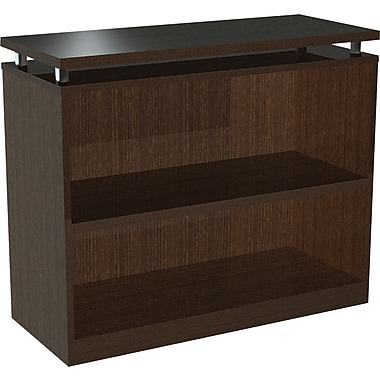 Alera® 2-Shelf SedinaAG Series Woodgrain Laminate Bookcase, Espresso