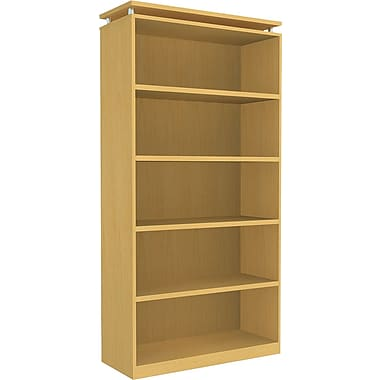 Alera® 5-Shelf SedinaAG Series Woodgrain Laminate Bookcase, Maple
