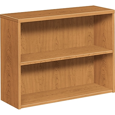 HON 10500 Series 2-Shelf Bookcase, Harvest