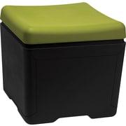 Iceberg Otto™ 18D High-Density Polyethlene File Ottoman, Green/Black