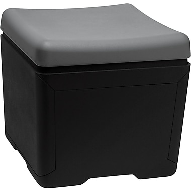 Iceberg Otto™ 18in.D High-Density Polyethlene File Ottoman, Charcoal/Black