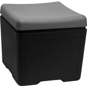 "Iceberg Otto™ 18""D High-Density Polyethlene File Ottoman, Charcoal/Black"