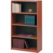 Safco® Value Mate® 4-Shelf Steel Bookcase, Cherry