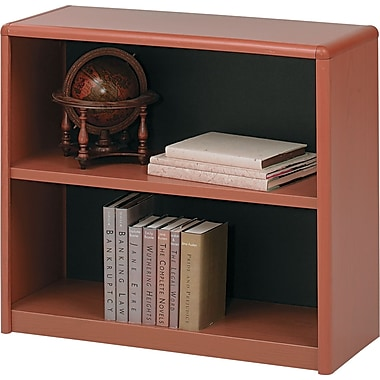 Safco® Value Mate® 2-Shelf Steel Bookcase, Cherry